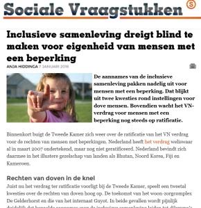 screenshot sociale vraagstukken